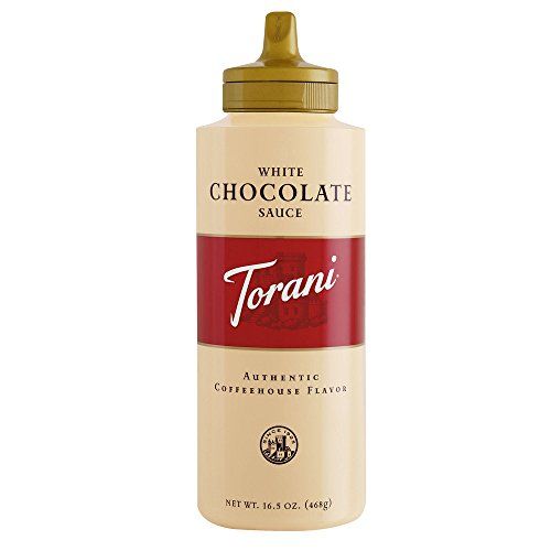 Torani White Chocolate Sauce, 16.5 Ounce (Pack of 4) ()