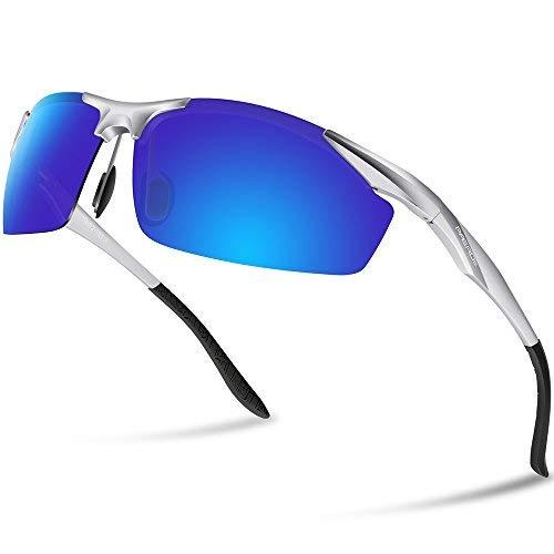 Paerde Men's Polarized Sports Sunglasses for Men Women Running Fishing Driving Golf Glasses Unbreakable Metal Frame PA01