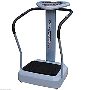Clevr 2000w Full Body Vibration Massage Exercise Machine Platform Crazy Fit Fitness Harmonics, Silver