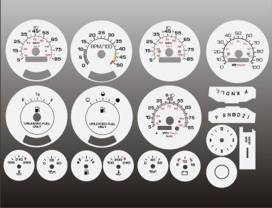 - 1980-1991 Chevrolet K5 Blazer White Face Gauges