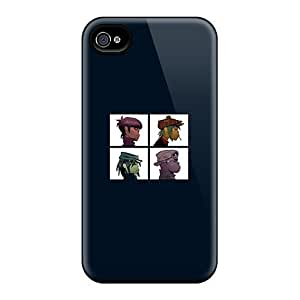 Iphone 4/4s Case Slim [ultra Fit] Gorillaz Deamon Days Protective Case Cover
