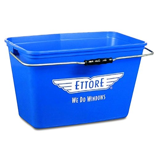 15L Professional Ettore Rectangle Window Cleaners Squeegee/Washer T-bar Bucket