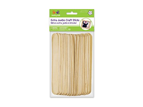Multicraft Imports Extra Jumbo Craft Sticks-Natural 7.9 inch x 0.8 inch (Jumbo Natural)