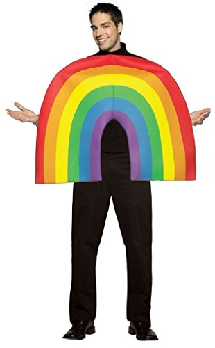 Ponce 3D Rainbow Costume Mens Dress Up Gay Pride Outfit (Sexy Gay Halloween Costumes)