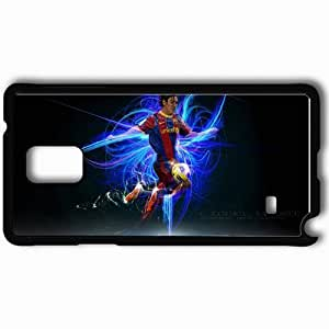 Personalized Samsung Note 4 Cell phone Case/Cover Skin The Flea Lionel Messi Lionel Messi FC Barcelona Football Black