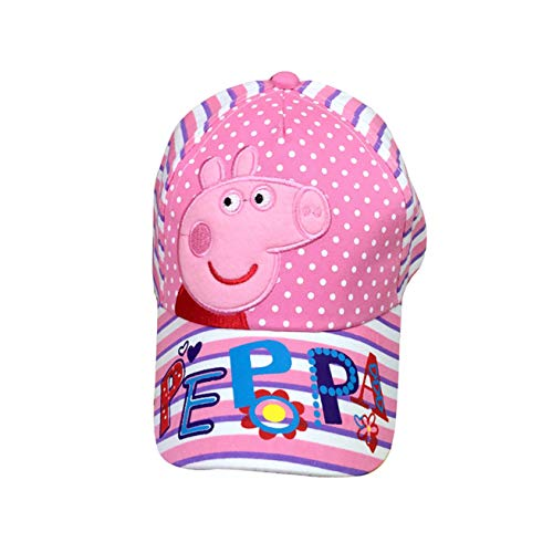 Pig Kids Girls Cap Little Piggy Embroidered Baseball Hat -Pink,White]()