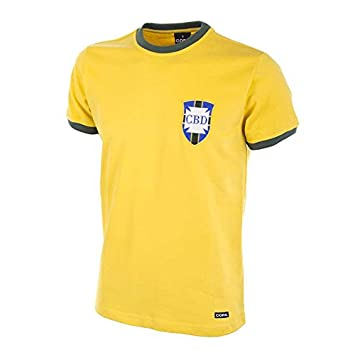COPA Football - Camiseta Retro Brasil Mundial 1970 (S): Amazon.es: Deportes y aire libre