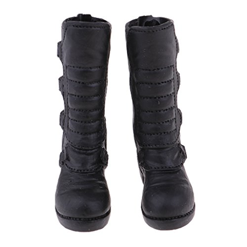 Low 6 Accessories Knee Boots Female Black Baoblaze Soldier 1 Action heeled Figure 8wnfBq