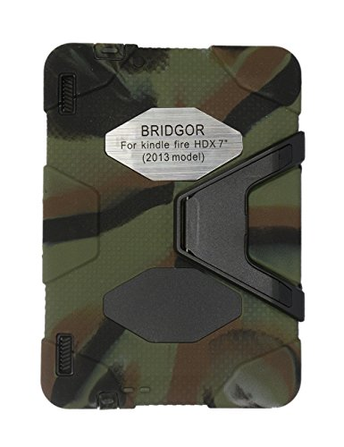 Kindle Fire Hdx 7'' Case, Kindle Fire Hdx 7 Inch Cover for Kindle Fire Hdx 7 Inch(2013 Model) Silicone Plastic Dual Pretective Back Cover Kid Proof Military Duty Case with - Hdx Cover And Case Kindle Fire 7