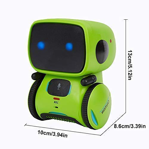 Yingtesi Smart Robot Interactive Toys for Age 3 Years Old Boys Girls Kids,Voice Command,Touch Control,Music and Sound Robotics Green by Yingtesi (Image #2)