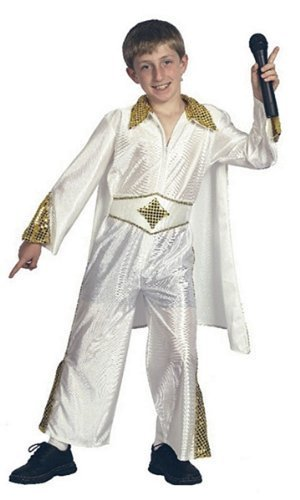 Amazon Com Large White Boys Elvis Rock Star Costume By Bristol