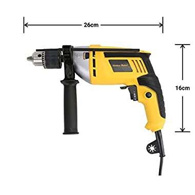Golden Bullet HI93 600W 13mm Reversible Impact Drill With 6 FREE drill bits and Variable Speed 12