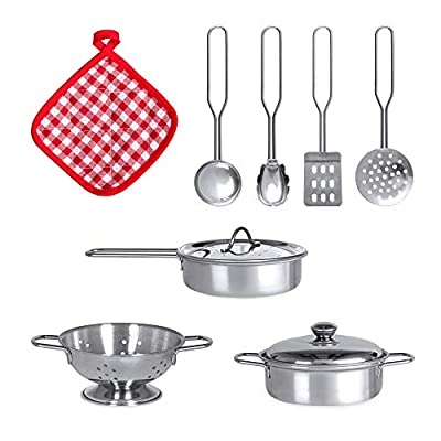 Best Choice Products Kids Pretend Play Kitchen Cook Toy Set w/ Sounds, 4 Utensils, Sink, Fridge, Stovetop, Accessories: Toys & Games