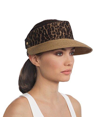 Eric Javits Luxury Fashion Designer Women's Headwear Hat (Natural Leopard) by Eric Javits