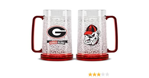 NCAA Georgia Bulldogs 16oz Crystal Freezer Mug