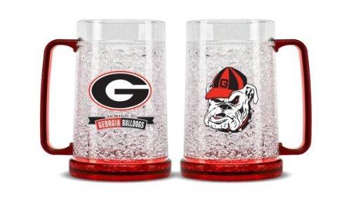 NCAA Georgia Bulldogs 16oz Crystal Freezer Mug ()