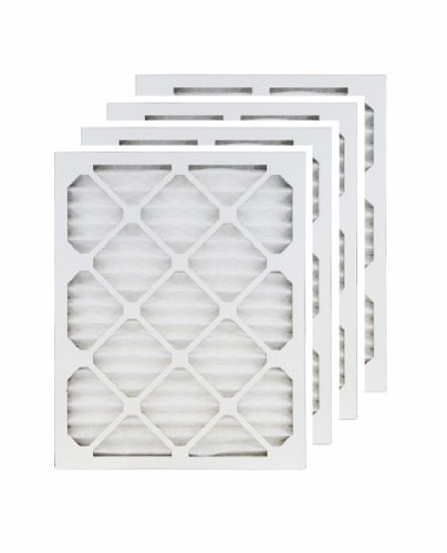 4. 14x18x1 (13.5x17.5) MERV 8 Air Filter/Furnace Filters (4 Pack)