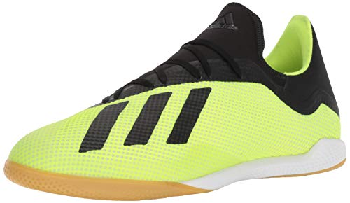adidas Men's X Tango 18.3 Indoor Soccer Shoe, Solar Yellow/Black/White, 10.5 M US