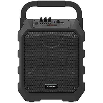 4ba55052e9d055 Fisher Portable Wireless Bluetooth Speaker System, Karaoke Microphone  Input, PA Loudspeaker, 8