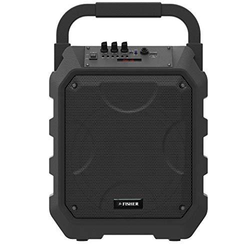 Fisher FBX490 Portable Wireless PA Speaker System with Karaoke Mic Input