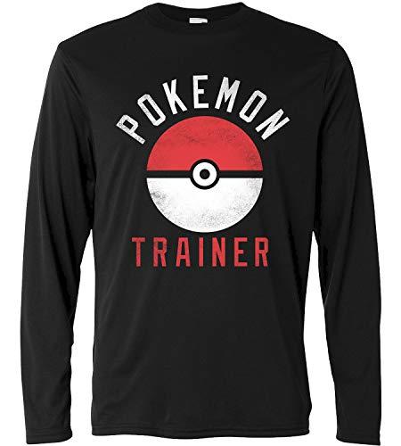 Lunga Lamaglieria Long A Pokemon Cotone 100 Uomo shirt T Sleeve Trainer Manica crxWrPn