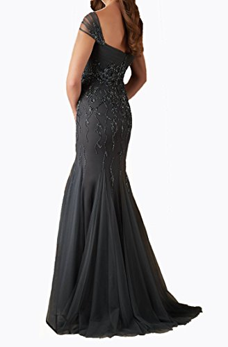 Bride Beading Dobelove Dress the Mother Gray Mermaid Women's Prom Dress of Elegant znW4A5qHn