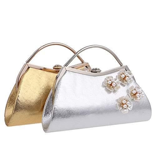 Bourse Silver Bal Chaîne Femme Sac Fête Pochette à Main Sac Maquillage Bandouliere pour Soirée Mariage Clutch ZF1qOT