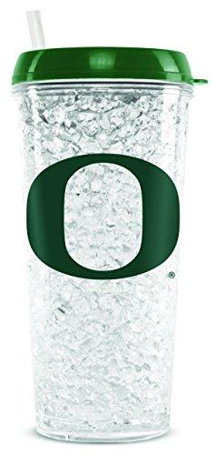NCAA Oregon Ducks 16oz Crystal Freezer Tumbler with Lid and Straw