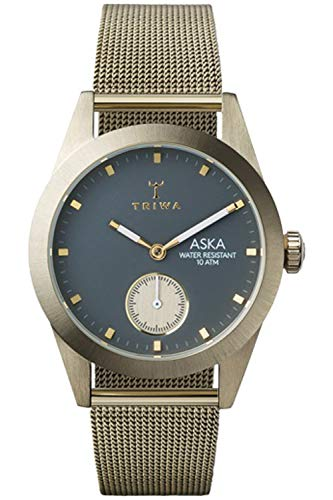 Triwa aska Womens Analog Japanese Quartz Watch with Stainless Steel Gold Plated Bracelet AKST103MS