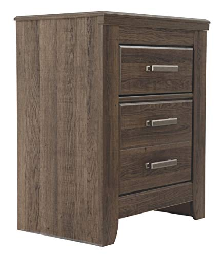 Ashley Furniture Signature Design - Juararo Nightstand - 2 Drawer - Rectangular - Dark Brown