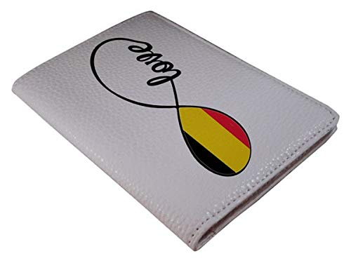 [OxyCase] Designer Light Weight PU Leather Passport Holder Cover/Case - Infinity Love Belgium Flag Design Printed Cute Travel Wallet for Girls/Women by OxyCase (Image #2)