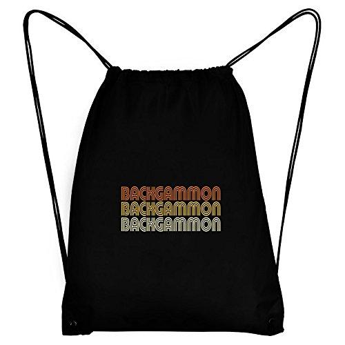 Teeburon Backgammon RETRO COLOR Sport Bag ()
