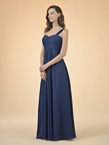 Party Dress Dark Evening Navy Bridesmaid Alicepub Prom Gown Long Asymmetric Women' Chiffon wZvxgnxY