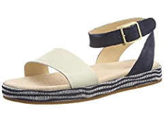 3d6628a8ad258 Clarks Botanic Ivy Leather Sandals in Cream Standard Fit Size 3:  Amazon.co.uk: Shoes & Bags