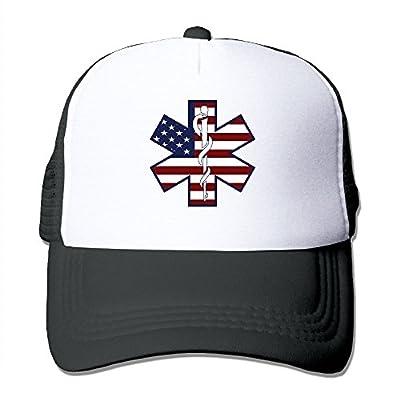 Unisex Trucker Hat American Flag EMS EMT2 Men Women Adjustable Mesh Cap Fashion Baseball Caps