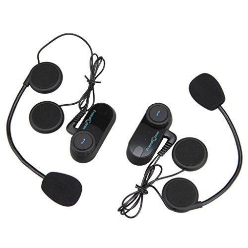 Excelvan FDC02 - 2×Auriculares Intercomunicador Bluetooth de casco de motocicleta...