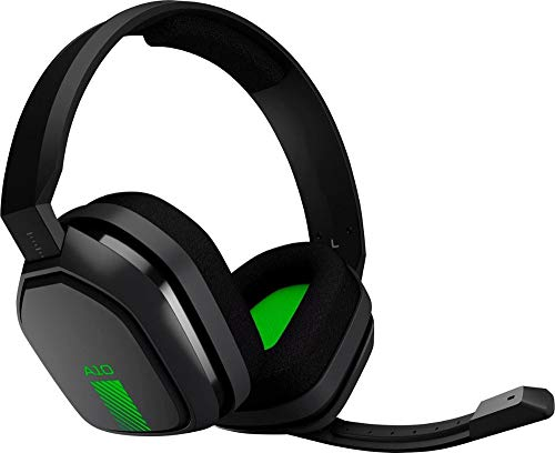 ASTRO Gaming A10 Headset for Xbox One/Nintendo Switch / PS4 / PC and Mac - Wired 3.5mm and Boom Mic by Logitech - Bulk Packaging - Green/Black ()