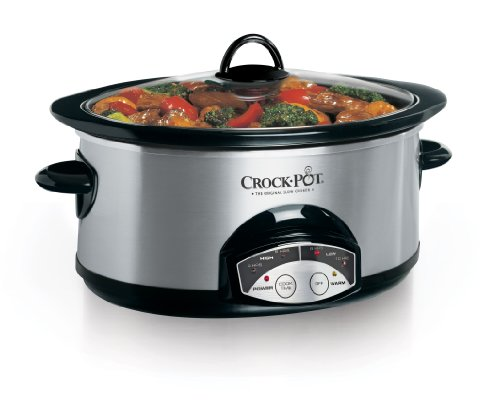 Crock-Pot 6Qt Programmable Slow Cooker, Stainless Steel