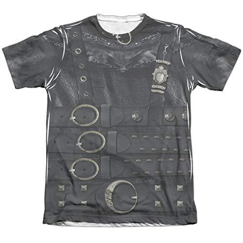 Edward Scissorhands Edward Costume - Sublimation Adult T-Shirt (Large) - (Front Only) Vintage Faded Design