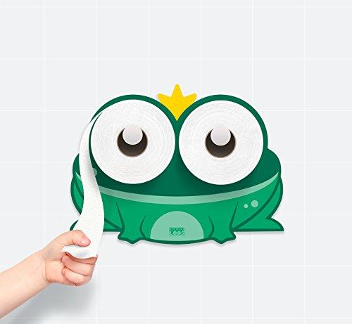 KooKooFrog - Bath Time - Potty Training - Frog - Toilet Paper Holder - Bathroom Decoration ()