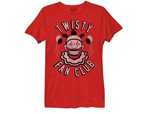 Club Ladies Tee (Ripple Junction American Horror Story Twisty Fan Club Women's T-Shirt Small Red)