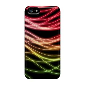 Tpu Case Cover Compatible For Iphone 5/5s/ Hot Case/ Light Rays by icecream design