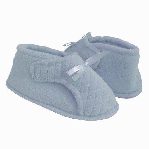 Womens Adjustable Bootie Slipper (XL, Light Blue)