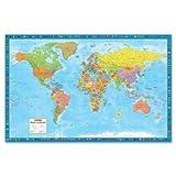 "World Wall Map, Laminated, 38x59"""""