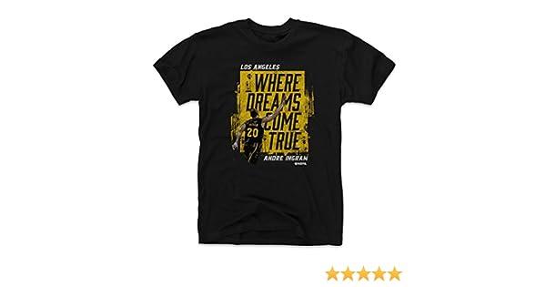 Amazon.com   500 LEVEL Andre Ingram Shirt - Vintage Los Angeles Basketball  Men s Apparel - Andre Ingram Dreams Come True   Sports   Outdoors dccbd995a