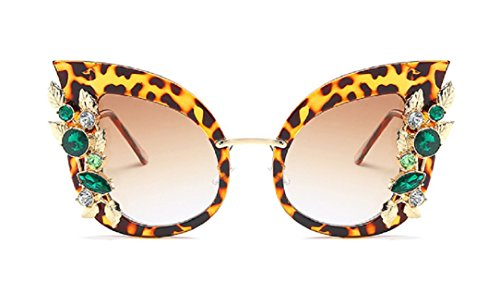 YABINA Luxury Sunglasses Women Inlaid Rhinestone Retro Sun glasses (02)
