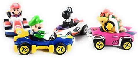 Lot of 4 HOT WHEELS Mario Kart Black Yoshi Noir  Bowser Luigi Mario exclusif