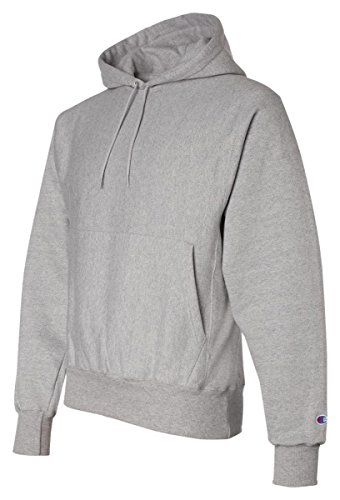 Champion Adult Reverse Weave Hooded Pullover Fleece, Oxford Grey (78/22), XL