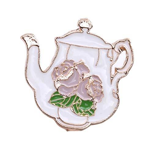 - Yunzee Cartoon Brooch Creative Coffee Cup Cat Teapot Shape Enamel Lapel Pin Lovely Backpack Decroation Brooch Pin,0.98x0.98inch