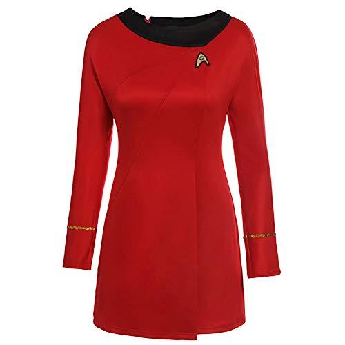 Star Trek Uhura Costume (Uniform Star Trek TOS Dress Costume Red Lady)